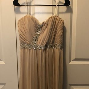 Champagne maxi formal dress